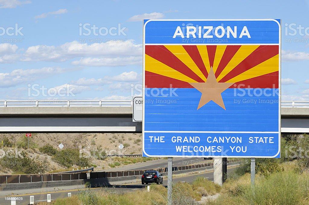 Welcome to Arizona royalty-free stock photo