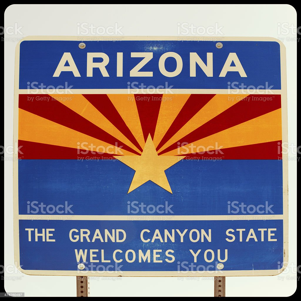 Welcome to Arizona royalty-free stock photo