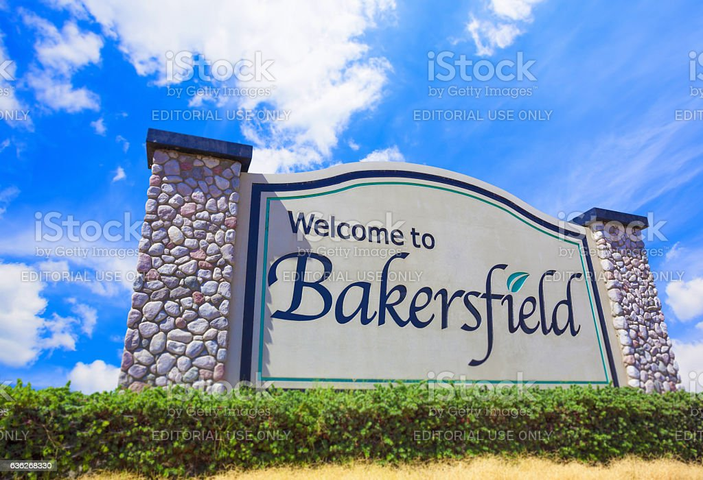 Welcome to Bakersfield stock photo