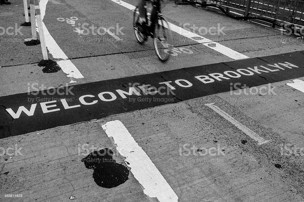 Welcome to Brooklyn stock photo