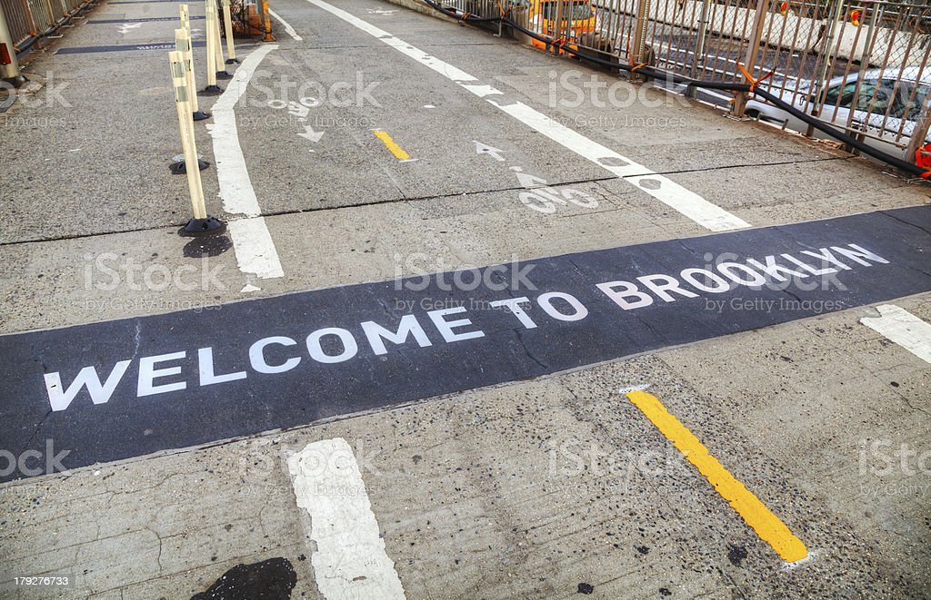 Welcome to Brooklyn sign royalty-free stock photo