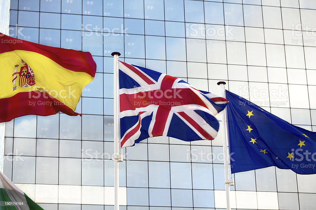 Welcome to Brussels capitol of EU royalty-free stock photo