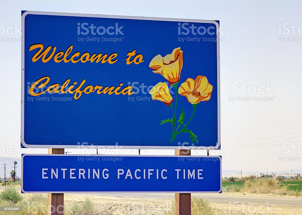 Welcome to California stock photo
