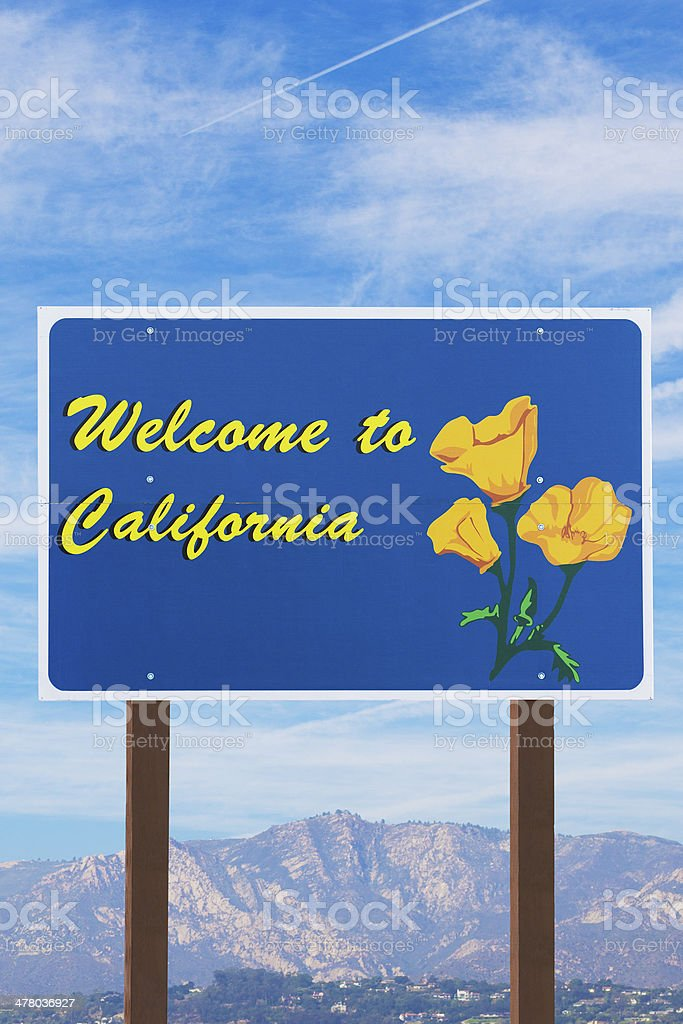 Welcome to California Sign stock photo