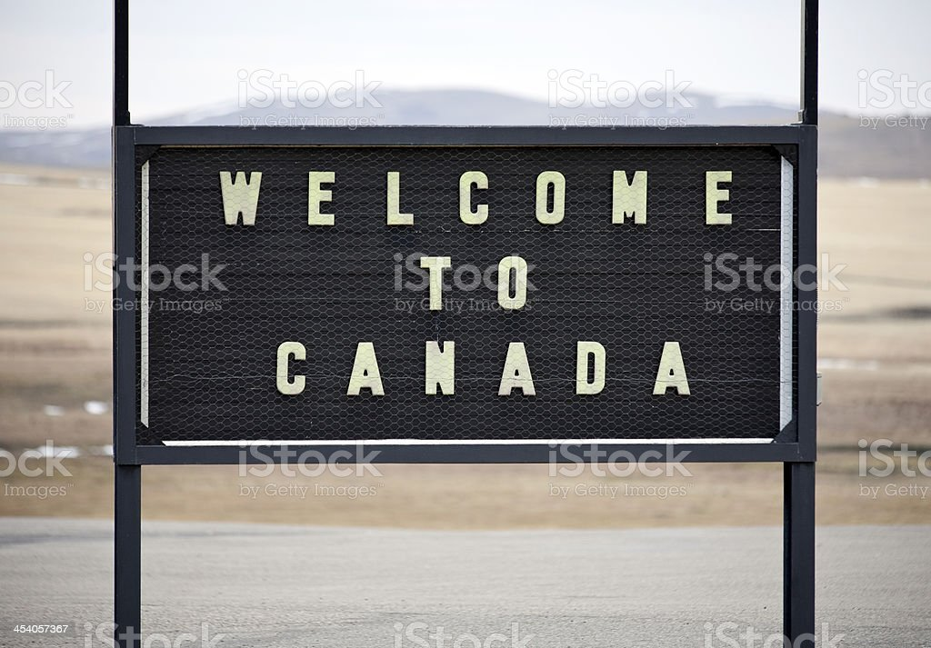 Welcome to Canada stock photo