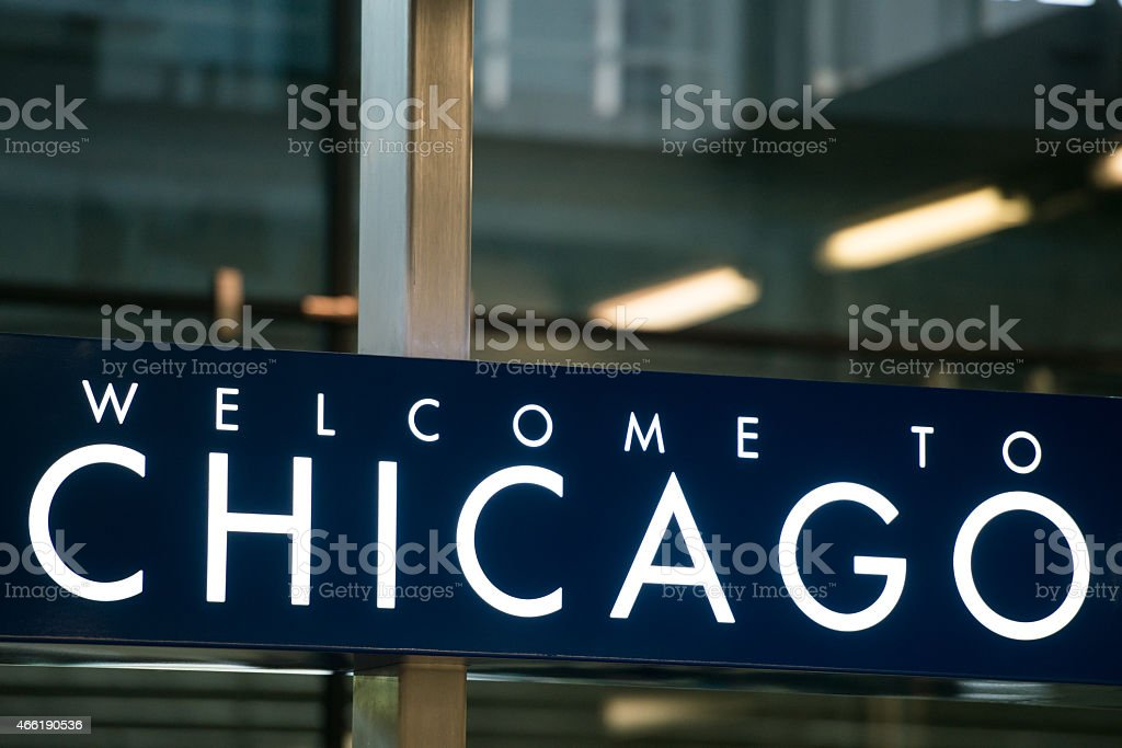 Welcome To Chicago stock photo