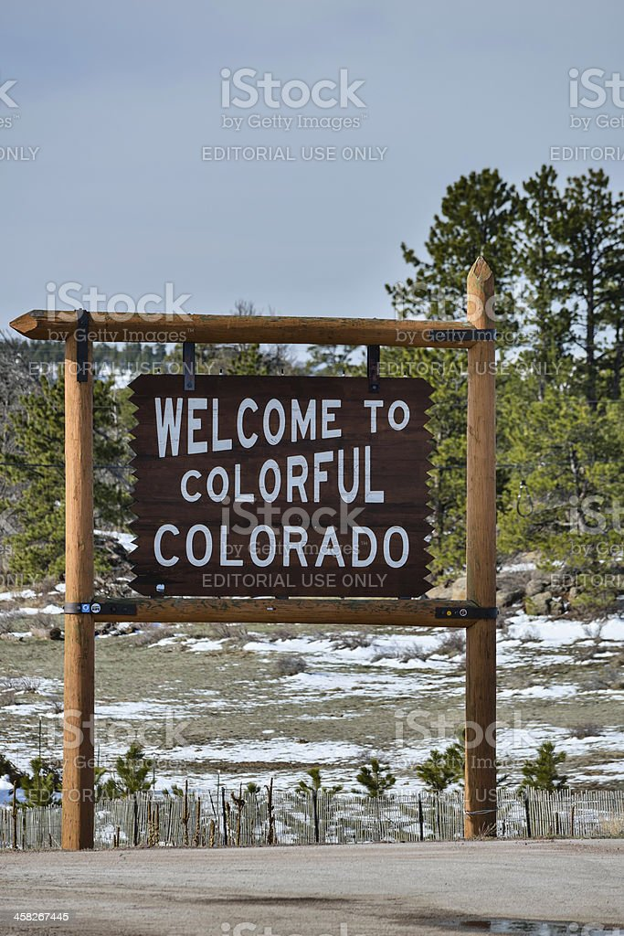 Welcome to Colorful Colorado stock photo