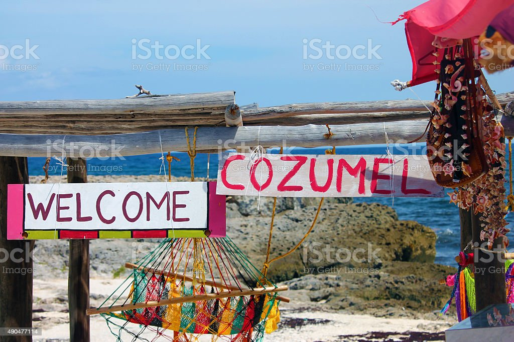 Welcome to Cozumel stock photo