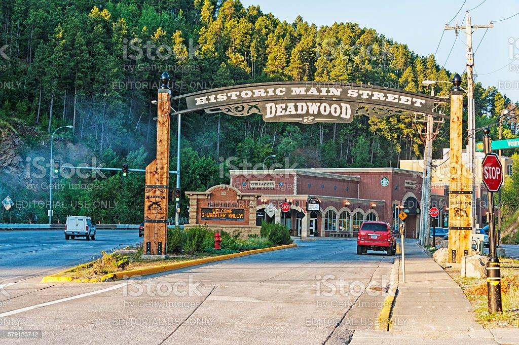 Welcome to Deadwood  South Dakota Historic Main Street stock photo