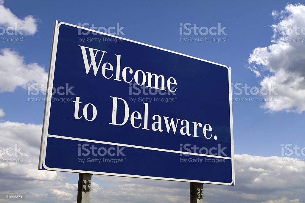 Welcome To Delaware Sign stock photo