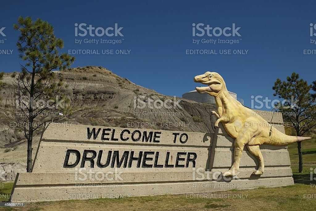 Welcome to Drumheller stock photo