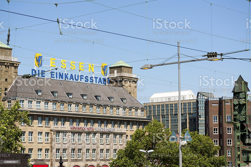Welcome to Essen royalty-free stock photo