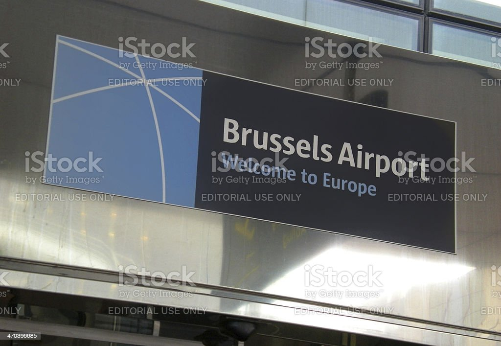 Welcome to Europe stock photo