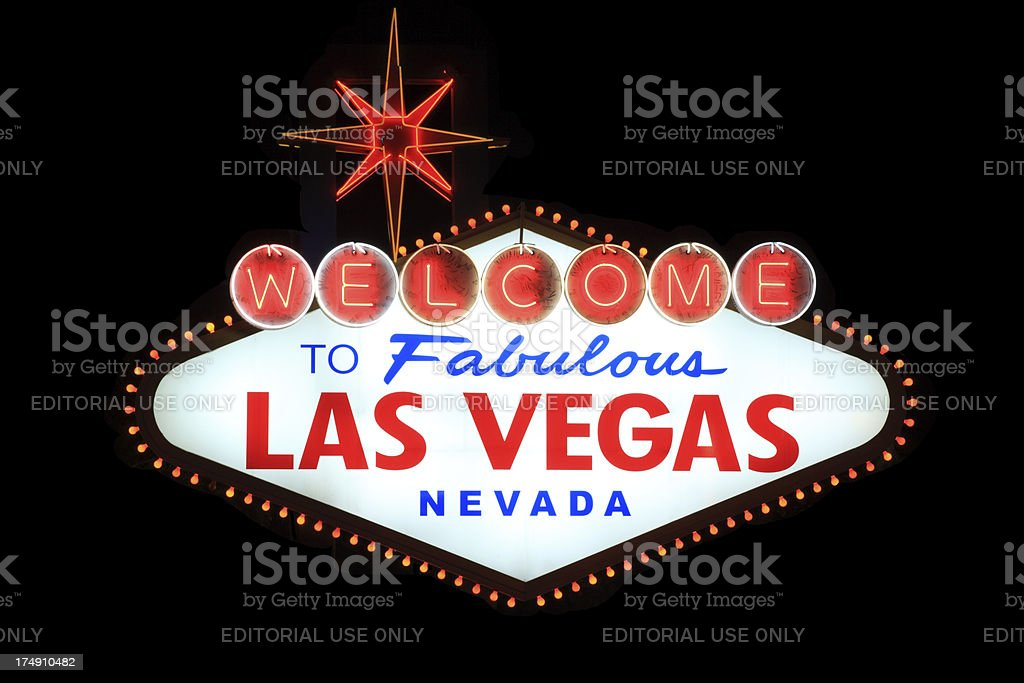 Welcome to Fabulous Las Vegas royalty-free stock photo