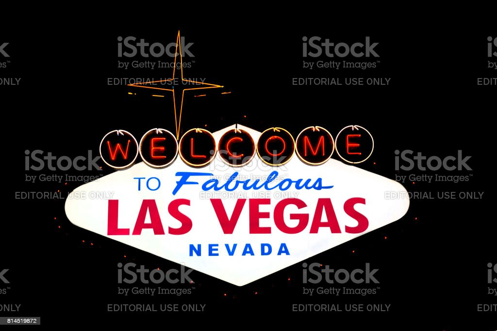 Welcome to Fabulous Las Vegas stock photo