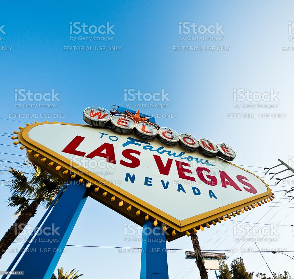 Welcome To Fabulous Las Vegas Sign Against Vivid Blue Sky royalty-free stock photo