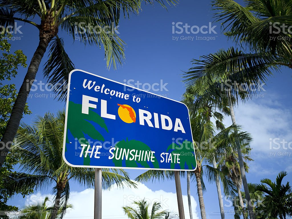 Welcome to Florida USA royalty-free stock photo