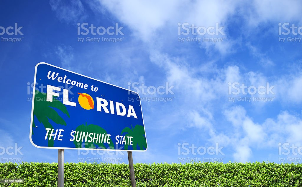 Welcome to Florida USA royalty-free stock photo
