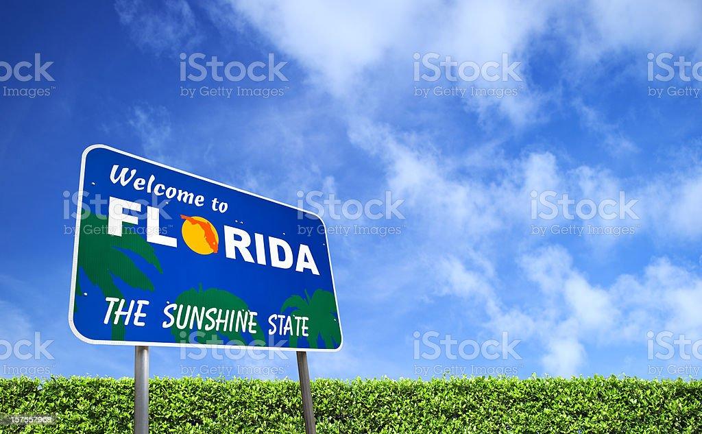 Welcome to Florida USA stock photo
