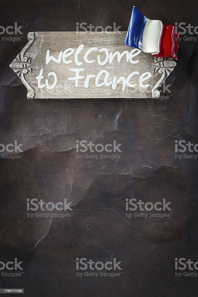 Welcome to France royalty-free stock photo