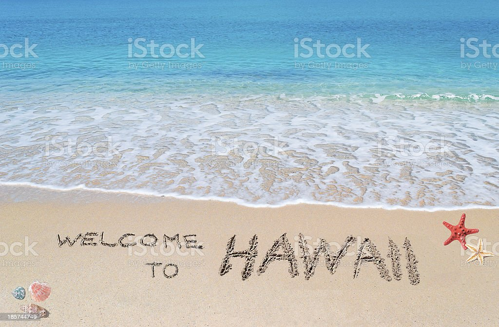 welcome to Hawaii royalty-free stock photo