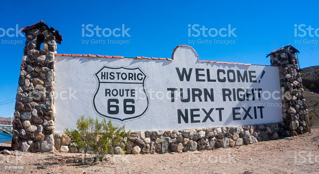 Welcome to Historic Route 66 stock photo