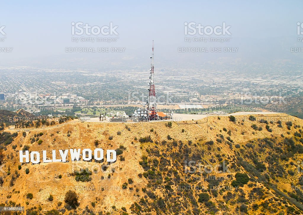 Welcome to Hollywood! stock photo