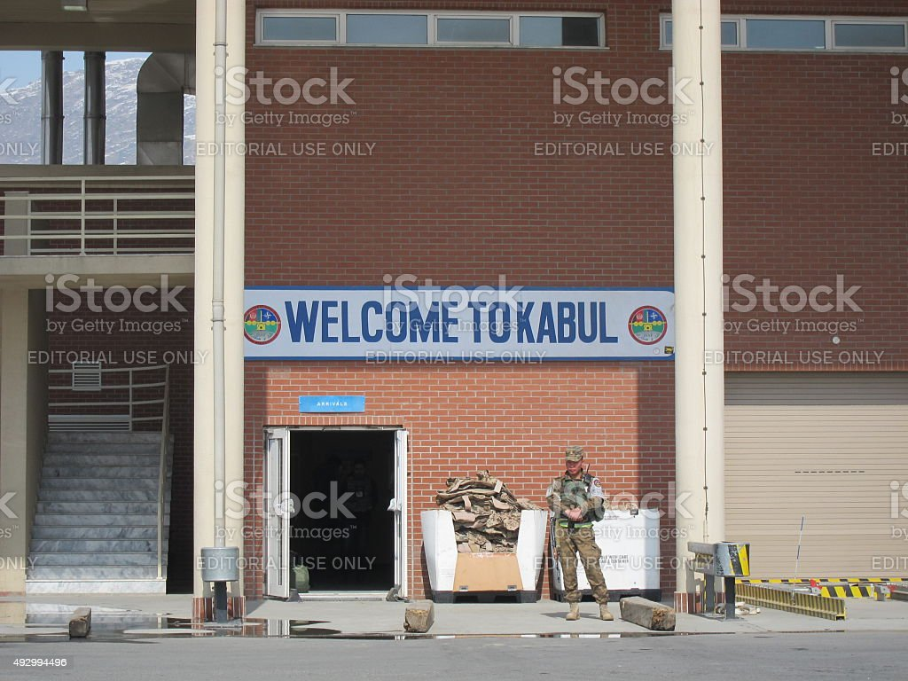 Welcome to Kabul stock photo