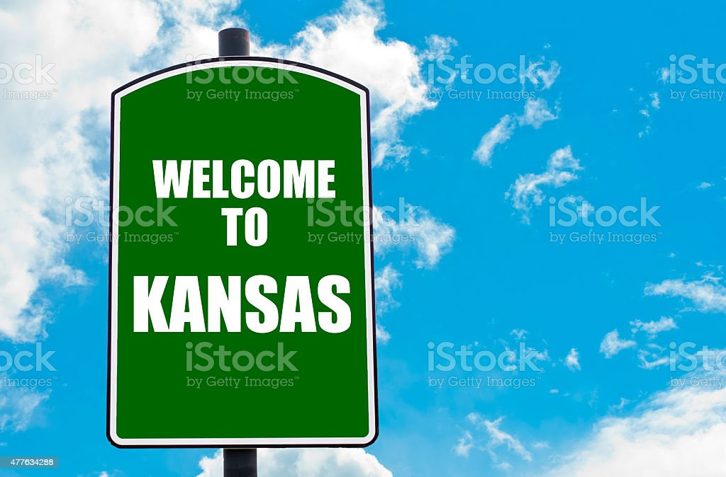 Welcome to KANSAS stock photo