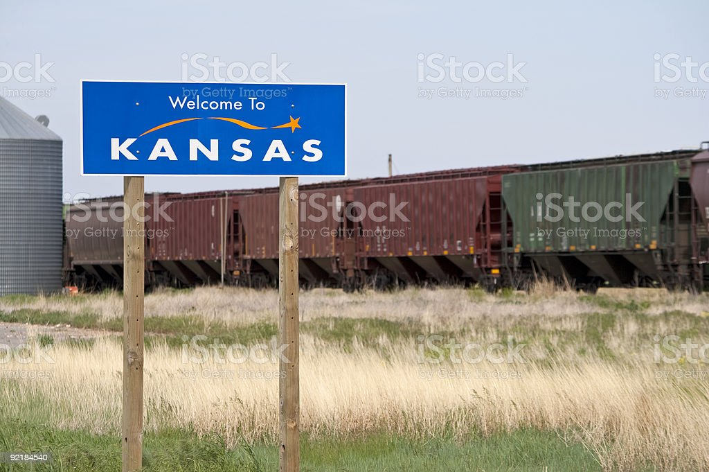 Welcome to Kansas royalty-free stock photo