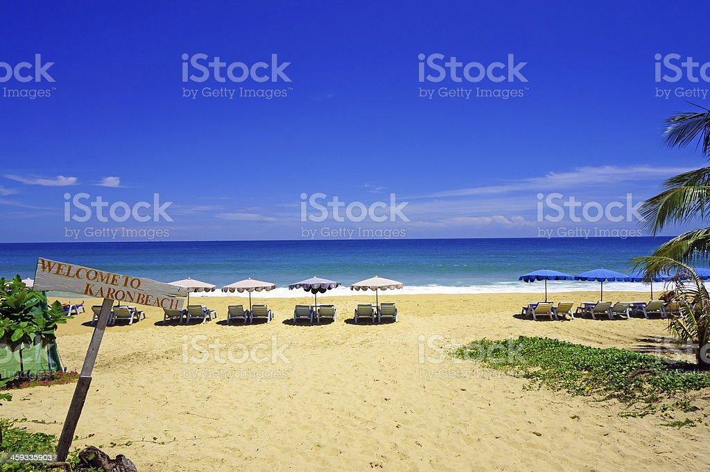 Welcome to Karon Beach stock photo