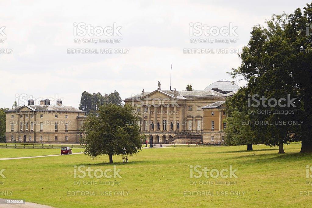 Welcome to Kedleston Hall stock photo