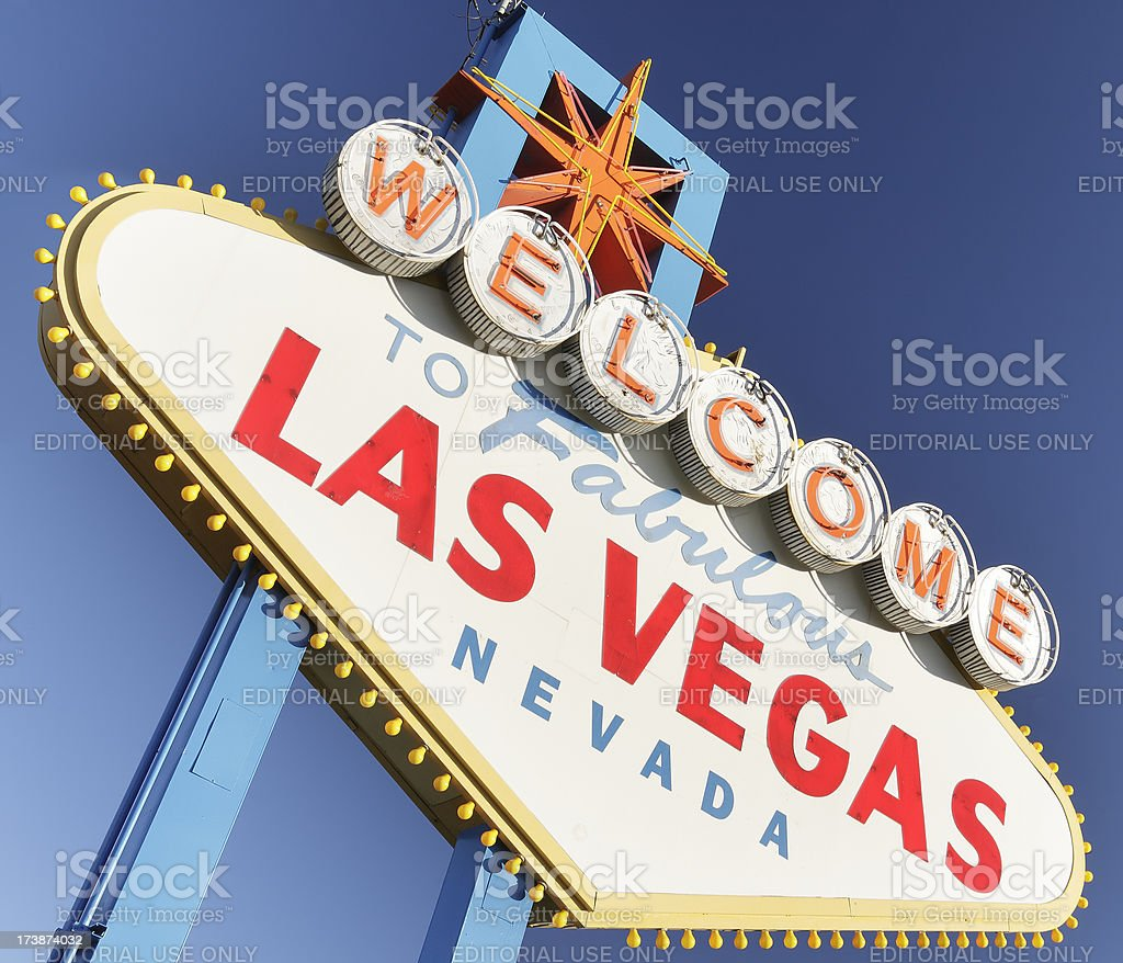 Welcome to Las Vegas royalty-free stock photo
