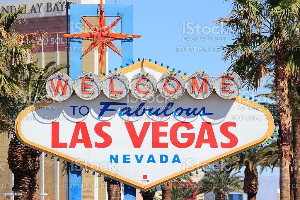 Welcome to Las Vegas stock photo