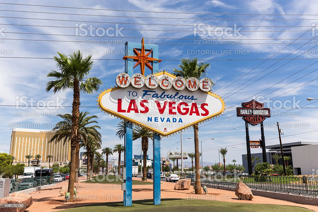 Welcome to Las Vegas sign in Las Vegas, USA stock photo