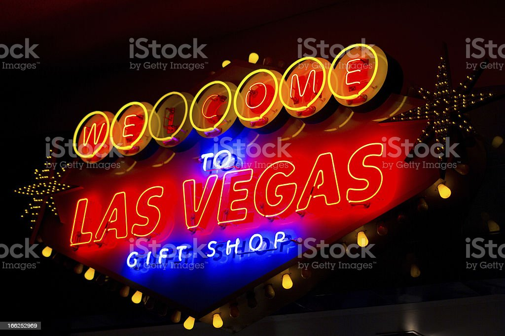 Welcome to Las Vegas sign in Nevada royalty-free stock photo