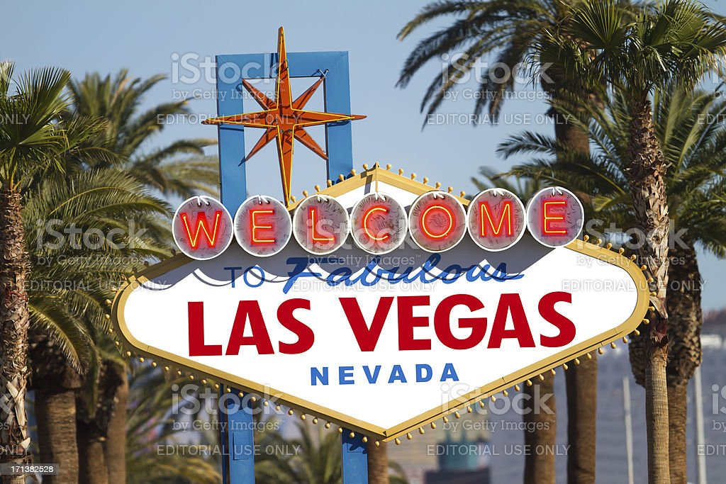 Welcome to Las Vegas Sign royalty-free stock photo