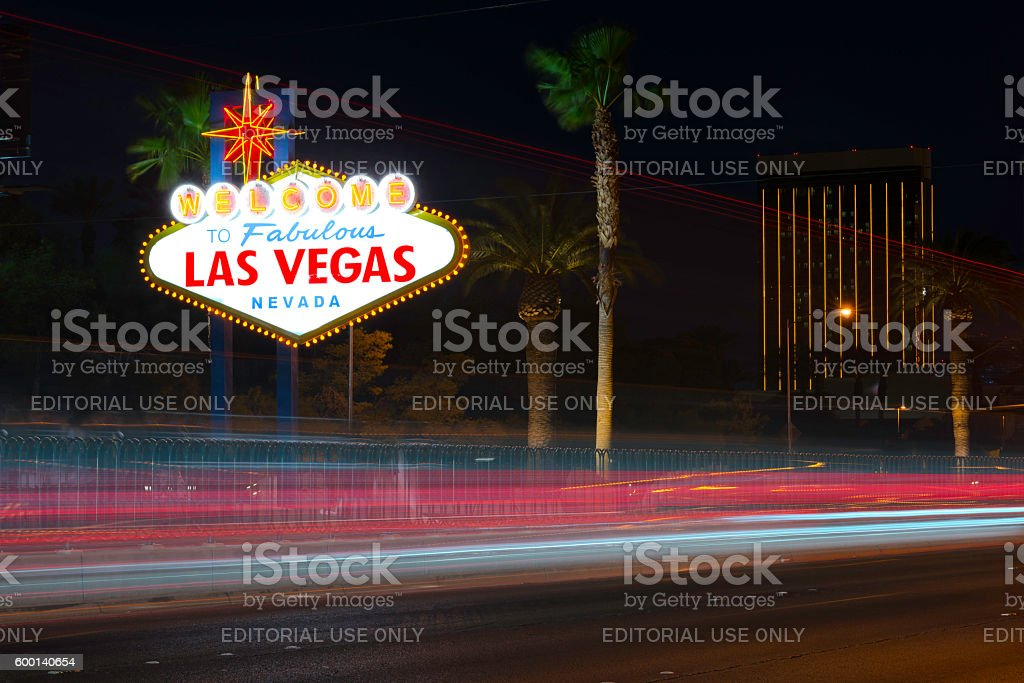 Welcome to Las Vegas Sign stock photo