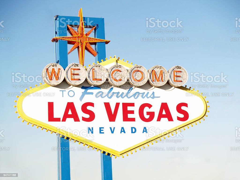 Welcome to LV Sign royalty-free stock photo