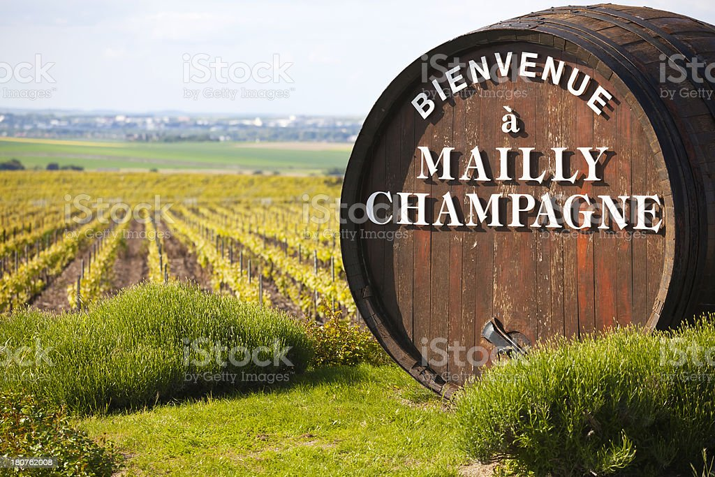 Welcome to Mailly Champagne royalty-free stock photo
