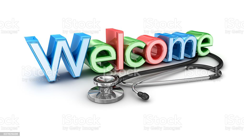 Welcome to medicine, 3d Concept isolated stock photo