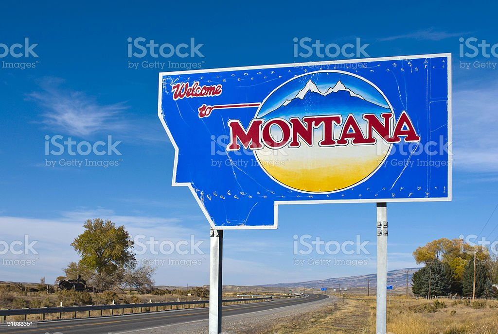 Welcome to Montana stock photo