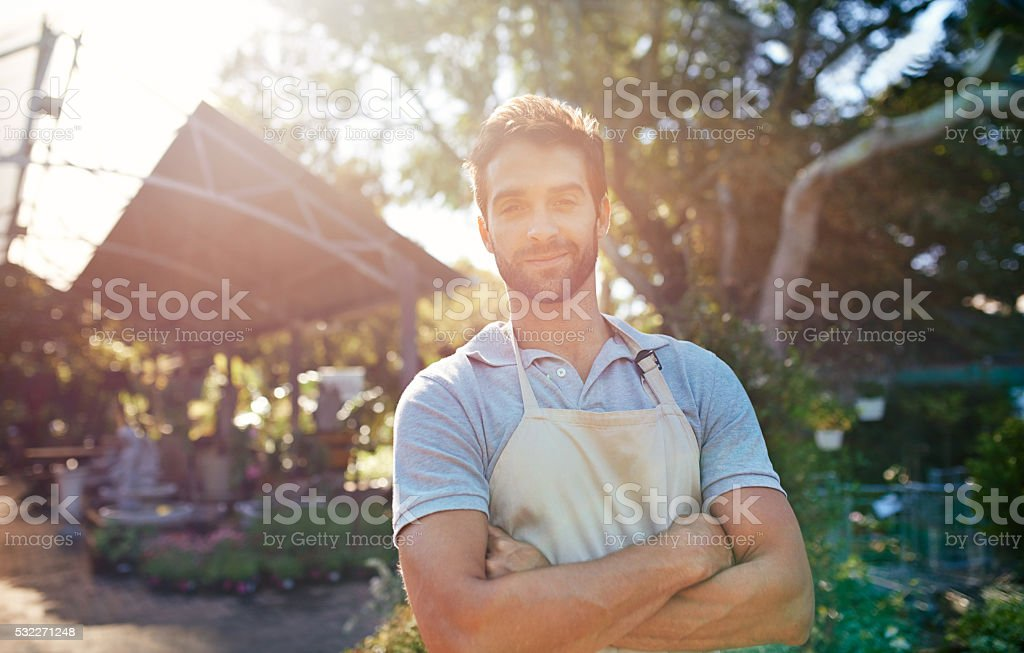 Welcome to my garden center stock photo