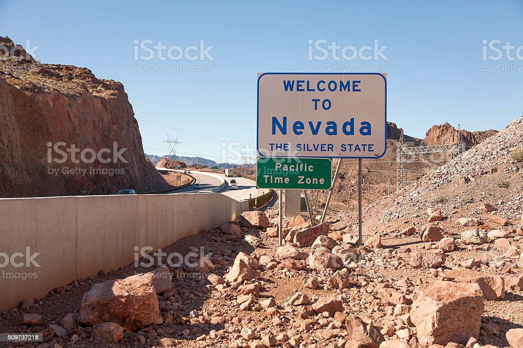 Welcome to Nevada stock photo