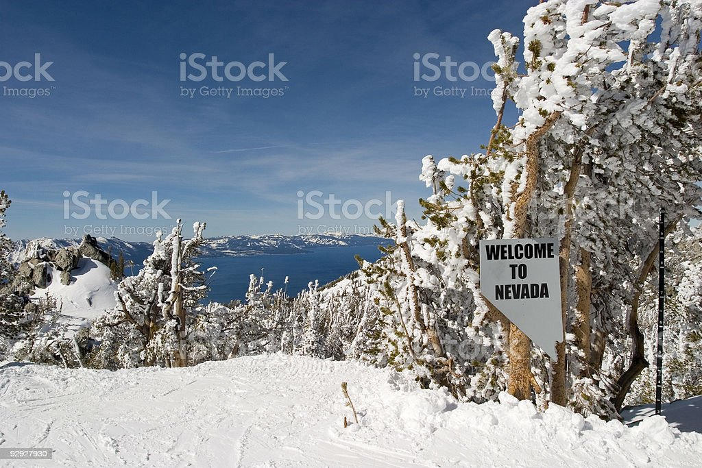 Welcome to Nevada Sign royalty-free stock photo