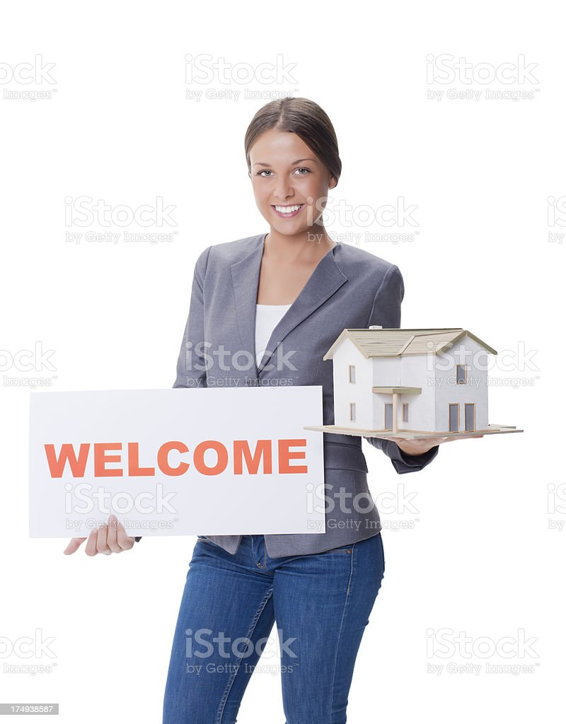 Welcome to new house royalty-free stock photo