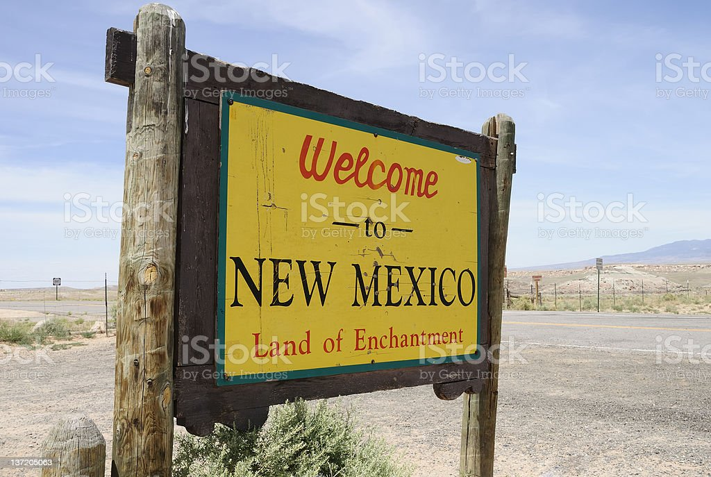Welcome To New Mexico royalty-free stock photo
