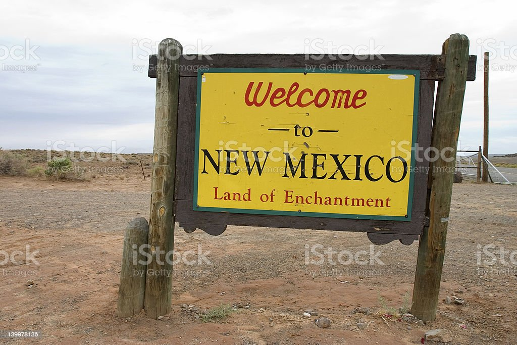 Welcome to New Mexico stock photo