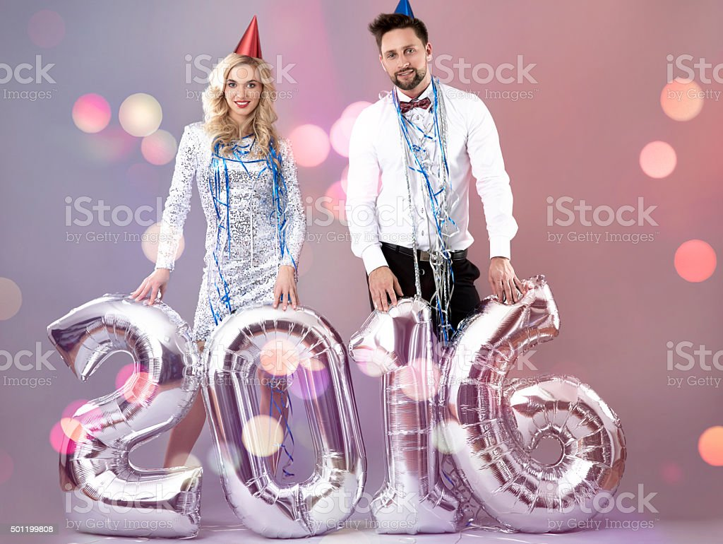 Welcome to New Year 2016! stock photo