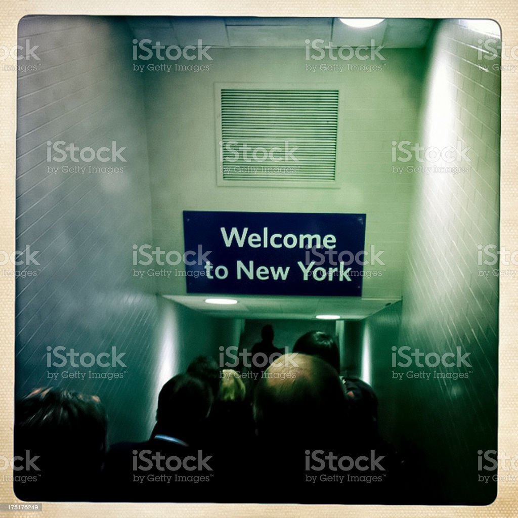Welcome to New York royalty-free stock photo